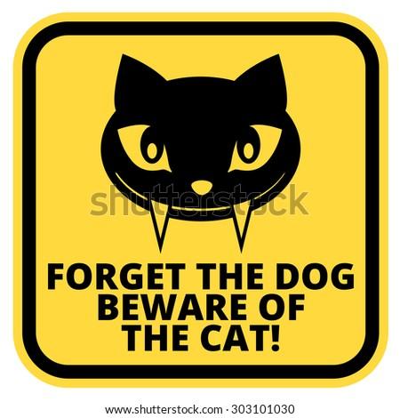 Cat Beware Of Dog Humor