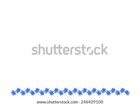 Forget-me-not on an white background - stock vector