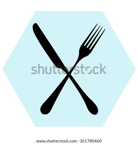fork and knife - illustration  - stock vector