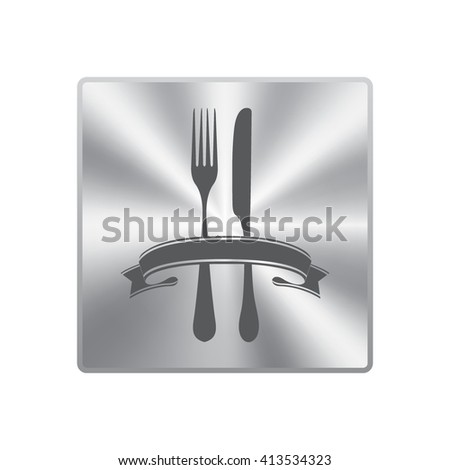 fork and knife - illustration
