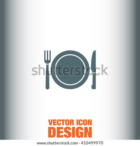 Fork and Knife Menu vector icon - stock vector