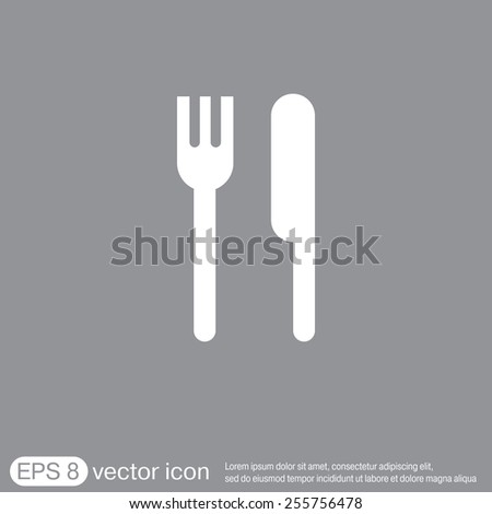 fork and knife sign. symbol lunch . cutlery - stock vector
