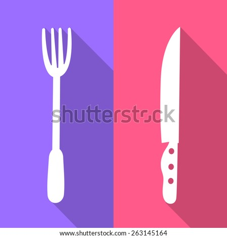 fork and knift icons set great for any use. Vector EPS10. - stock vector