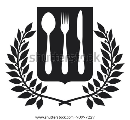 fork and spoon knife design (fork and spoon knife symbol) - stock vector