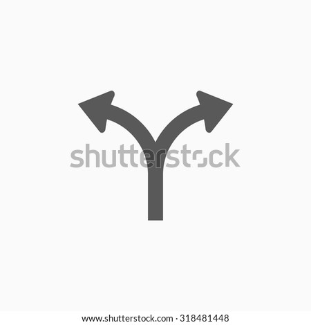 fork in the road icon - stock vector