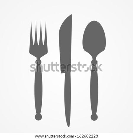 Fork  knife and spoon - stock vector