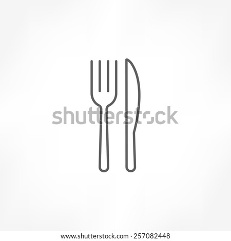 fork knife icon - stock vector