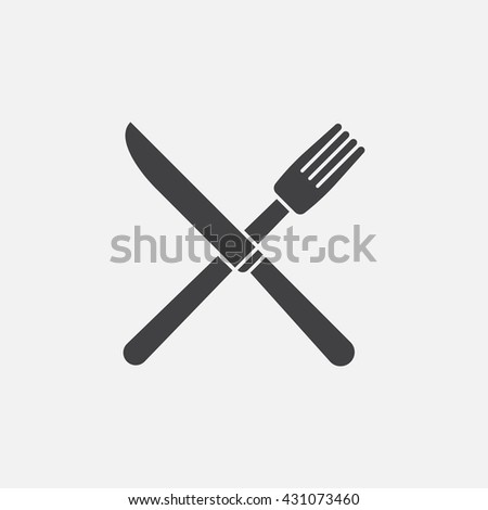 fork knife line icon restaurant outline stock vector 431814964