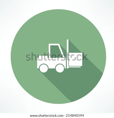 Fork lift icon - stock vector