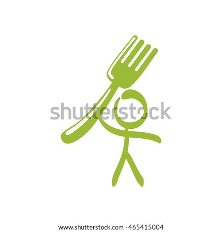 fork pictogram product healthy food icon. Isolated and flat illustration. Vector graphic
