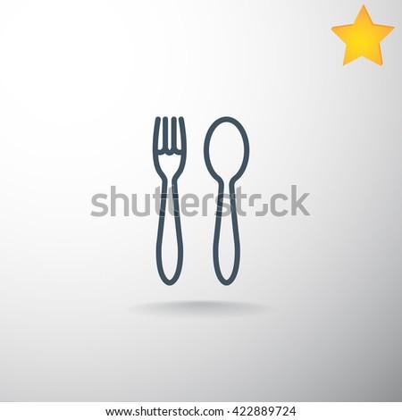 fork spoon Icon. fork spoon Icon Vector. fork spoon Icon Art. fork spoon Icon eps. fork spoon Icon JPG. fork spoon Icon logo.fork spoon Icon Sign.fork spoon Icon Flat. fork spoon Icon design. - stock vector