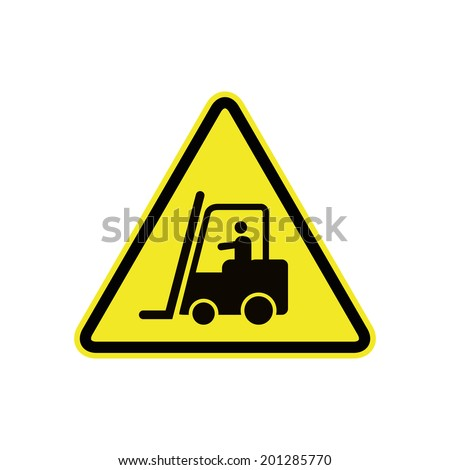 forklift in operation sign - stock vector