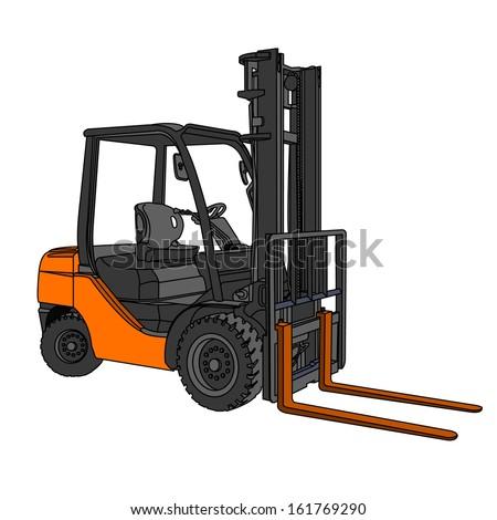 Forklift  vector - stock vector
