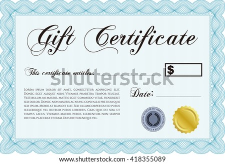 Formal gift certificate template guilloche pattern stock vector formal gift certificate template with guilloche pattern and background elegant design vector illustration yadclub Gallery