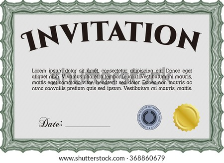 Formal invitation border framelovely design background stock vector formal invitation border framelovely design with background stopboris Choice Image