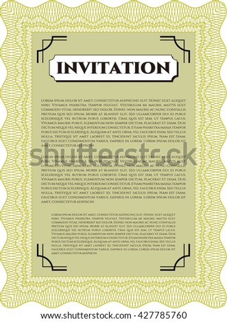 Formal invitation good design complex background stock vector formal invitation good design with complex background customizable easy to edit and stopboris Choice Image