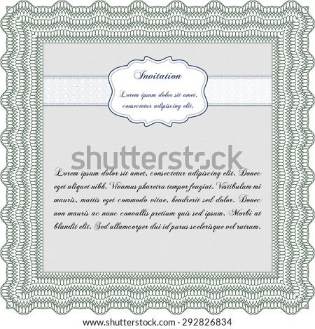 Formal invitation. Printer friendly. Beauty design. Vector illustration. - stock vector