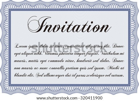 Formal invitation template. Artistry design. Customizable, Easy to edit and change colors.Printer friendly.  - stock vector