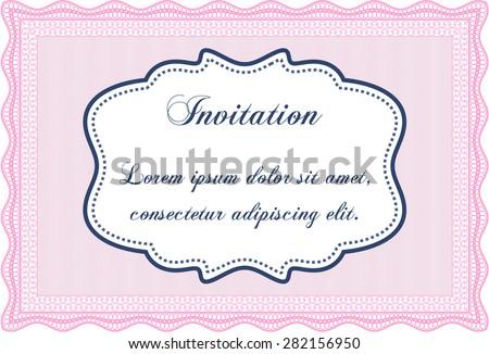 Formal Invitation Template Border Framecomplex Background Stock