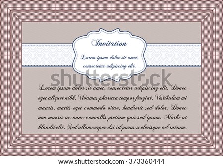 Formal Invitation Template Nice Design Detailedwith Stock Vector