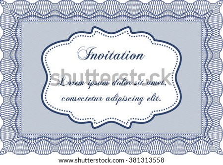 Vector Illustration Formal Invitation Template Easy Stock Vector