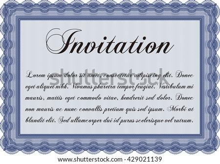 Formal Invitation Template Customizable Easy Edit Stock Vector