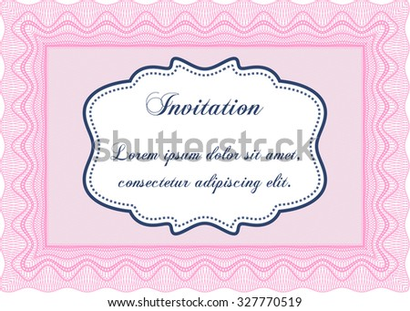 Formal invitation vector illustration with complex linear stock formal invitation vector illustrationwith complex linear background complex design stopboris Images