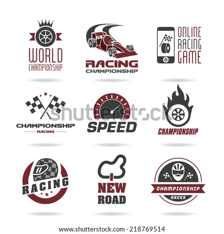 Formula 1 icon set, sport icons and sticker - stock vector