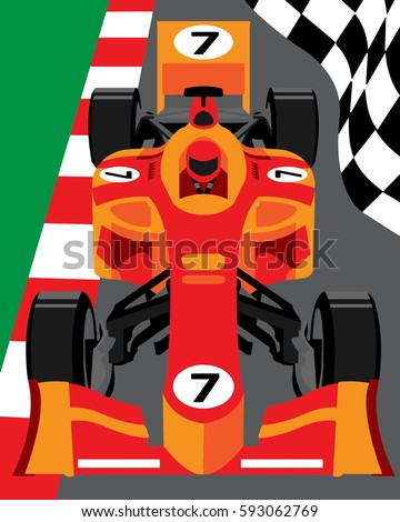 formula 1 race car stock vector 593062769 shutterstock rh shutterstock com Animated Race Car Clip Art Race Car Clip Art Black and White