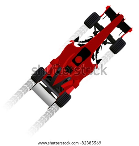 formula racing car - stock vector