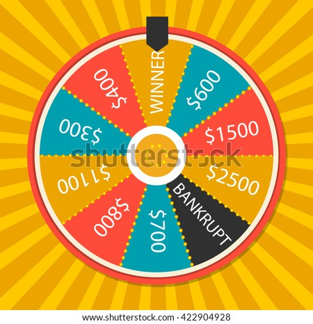 Fortune wheel vector. Fortune wheel art. Fortune wheel object. Fortune wheel Image. Fortune wheel logo. Fortune wheel sign. Fortune wheel flat. Lucky wheel app. Fortune wheel luck.  Fortune wheel eps - stock vector