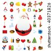 forty high quality christmas icons - stock vector