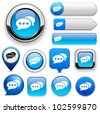 Forum blue design elements for website or app. Vector eps10. - stock photo