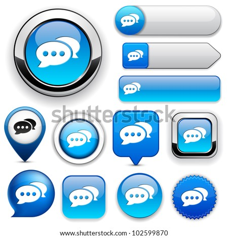 Forum blue design elements for website or app. Vector eps10. - stock vector