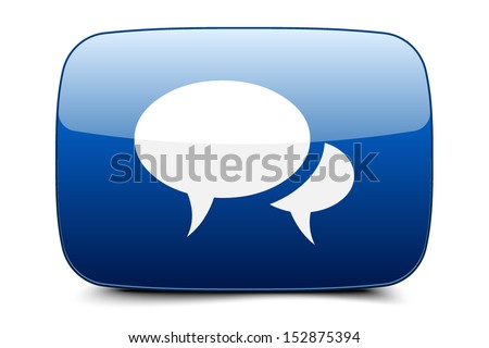 Forum Chat Blog button - stock vector