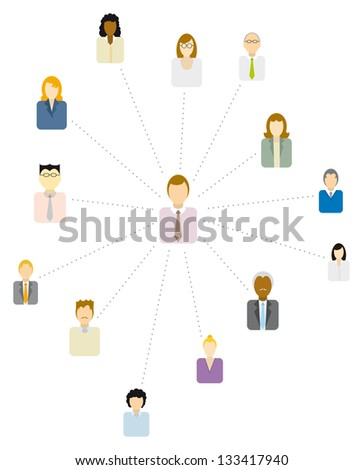 Forum Moderator / Social and business network or People icon - stock vector