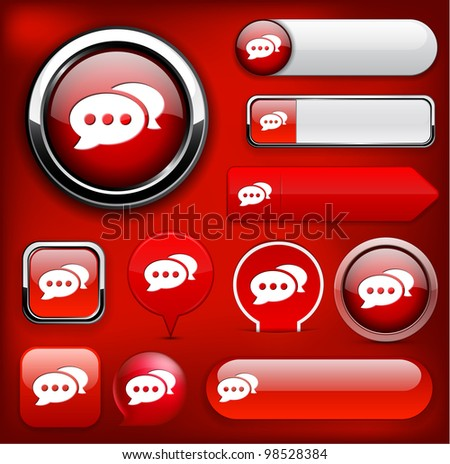 Forum red design elements for website or app. Vector eps10. - stock vector