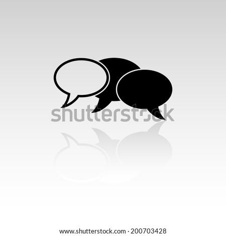 Forum speach bubbles mirror icon  - stock vector