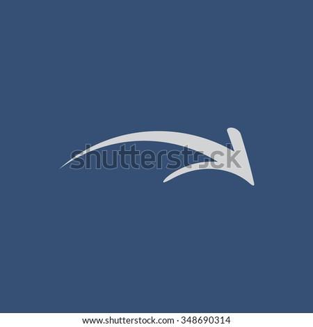 Forward arrow icon - stock vector