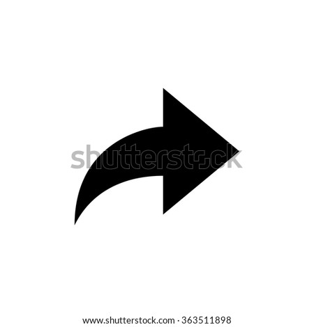 Forward icon . Arrow icon . Vector illustration - stock vector