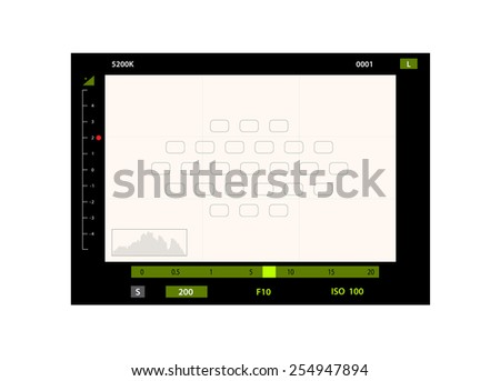 Foto camera the image via the view-finder - stock vector
