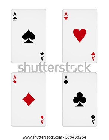 Four Aces - stock vector