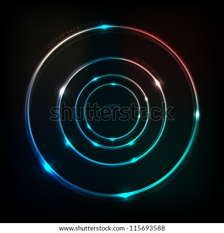 four circle elements vector abstract illustration - stock vector