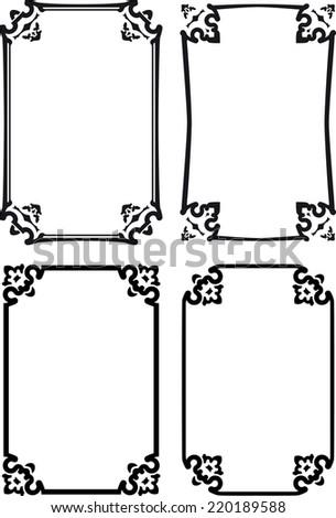 Four classical decorative frames  - stock vector