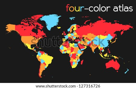 Fourcolor world map atlas eps 10 stock vector 127316726 shutterstock four color world map atlas eps 10 vector gumiabroncs Image collections