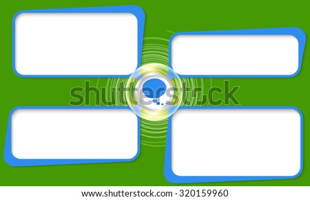 Four connected frames for your text and speech bubble - stock vector