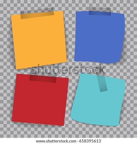 Four Different Colored Papers For Writing On A Checkered Background  Colored Writing Paper