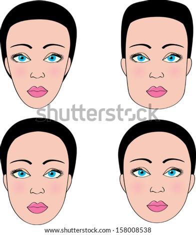 Female Face Shapes Stock Photos, Royalty-Free Images ...  Female Face Sha...