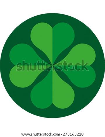 Four Leaf Clover - stock vector