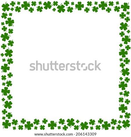 four leaf clover borderのベクター画像素材 206143309 shutterstock